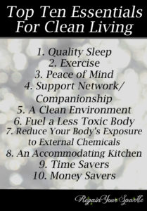 Top Ten Essentials for Clean Living